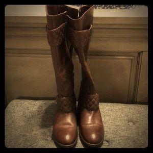 Ralph Lauren wide calf leather boots
